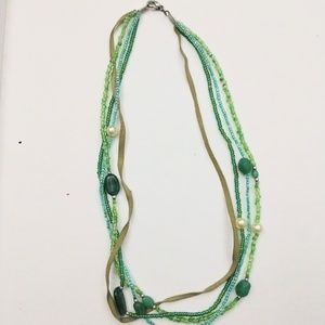 Four Strand Green Necklace